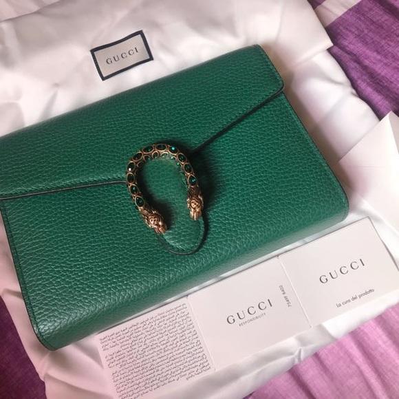 c70341b8edec Gucci Bags   Rare Bnib Emerald Dionysus Woc   Poshmark